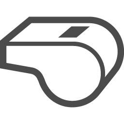 ホイッスルのフリーイラスト2 アイコン素材ダウンロードサイト Icooon Mono 商用利用可能なアイコン素材が無料 フリー ダウンロードできるサイト
