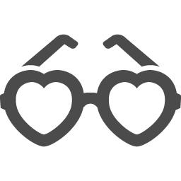 ハートのメガネアイコン1 アイコン素材ダウンロードサイト Icooon Mono 商用利用可能なアイコン 素材が無料 フリー ダウンロードできるサイト