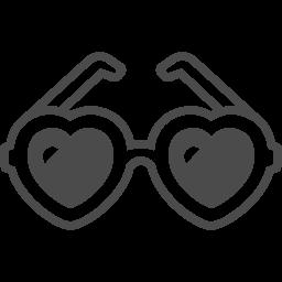 ハートのメガネアイコン2 アイコン素材ダウンロードサイト Icooon Mono 商用利用可能なアイコン 素材が無料 フリー ダウンロードできるサイト