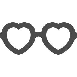ハートのメガネアイコン3 アイコン素材ダウンロードサイト Icooon Mono 商用利用可能なアイコン素材が無料 フリー ダウンロードできるサイト