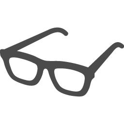 黒縁メガネフリー素材2 アイコン素材ダウンロードサイト Icooon Mono 商用利用可能なアイコン素材が無料 フリー ダウンロードできるサイト