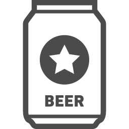 缶ビールの無料アイコン4 アイコン素材ダウンロードサイト Icooon Mono 商用利用可能なアイコン 素材が無料 フリー ダウンロードできるサイト
