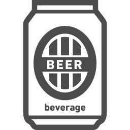 缶ビールアイコン6 アイコン素材ダウンロードサイト Icooon Mono 商用利用可能なアイコン素材が無料 フリー ダウンロードできるサイト