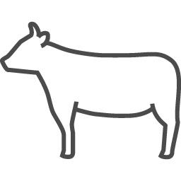 牛アイコン7 アイコン素材ダウンロードサイト Icooon Mono 商用利用可能なアイコン素材が無料 フリー ダウンロードできるサイト
