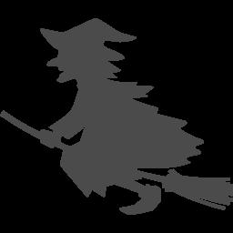 魔女のイラスト1 アイコン素材ダウンロードサイト Icooon Mono 商用利用可能なアイコン素材が無料 フリー ダウンロードできるサイト