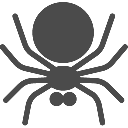 蜘蛛アイコン3 アイコン素材ダウンロードサイト Icooon Mono 商用利用可能なアイコン素材が無料 フリー ダウンロードできるサイト