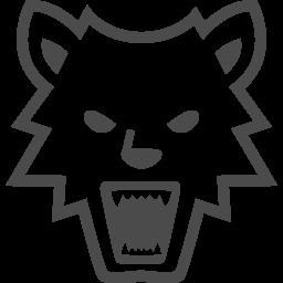 狼男アイコン1 アイコン素材ダウンロードサイト Icooon Mono 商用利用可能なアイコン素材が無料 フリー ダウンロードできるサイト