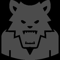 狼男アイコン3 アイコン素材ダウンロードサイト Icooon Mono 商用利用可能なアイコン素材が無料 フリー ダウンロードできるサイト