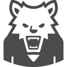 狼男のイラスト4 アイコン素材ダウンロードサイト Icooon Mono 商用利用可能なアイコン素材が無料 フリー ダウンロードできるサイト