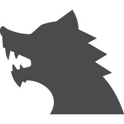狼男アイコン5 アイコン素材ダウンロードサイト Icooon Mono 商用利用可能なアイコン素材が無料 フリー ダウンロードできるサイト