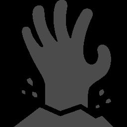 死者の手のフリー素材3 アイコン素材ダウンロードサイト Icooon Mono 商用利用可能なアイコン素材が無料 フリー ダウンロードできるサイト