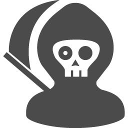 死神アイコン1 アイコン素材ダウンロードサイト Icooon Mono 商用利用可能なアイコン素材が無料 フリー ダウンロードできるサイト