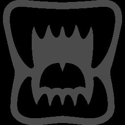 牙のイラスト1 アイコン素材ダウンロードサイト Icooon Mono 商用利用可能なアイコン素材が無料 フリー ダウンロードできるサイト