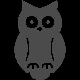 フクロウのフリー素材3 アイコン素材ダウンロードサイト Icooon Mono 商用利用可能なアイコン素材が無料 フリー ダウンロードできるサイト