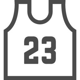 バスケットボールユニフォーム2 アイコン素材ダウンロードサイト Icooon Mono 商用利用可能なアイコン素材が無料 フリー ダウンロードできるサイト