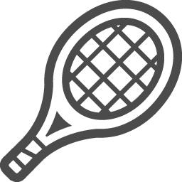 テニスラケットのイラスト5 アイコン素材ダウンロードサイト Icooon Mono 商用利用可能なアイコン素材 が無料 フリー ダウンロードできるサイト