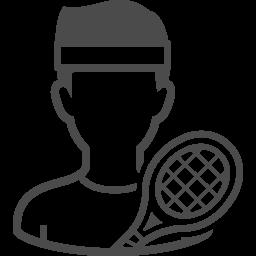 テニスプレーヤーの無料アイコン2 アイコン素材ダウンロードサイト Icooon Mono 商用利用可能なアイコン素材が無料 フリー ダウンロードできるサイト
