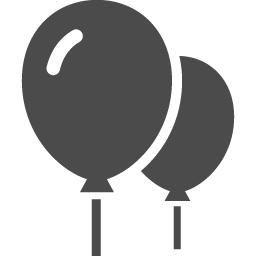 風船のフリーアイコン2 アイコン素材ダウンロードサイト Icooon Mono 商用利用可能なアイコン素材が無料 フリー ダウンロードできるサイト