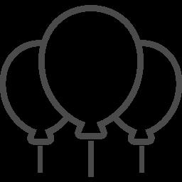 風船のイラスト6 アイコン素材ダウンロードサイト Icooon Mono 商用利用可能なアイコン素材が無料 フリー ダウンロードできるサイト