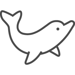 イルカのイラスト4 アイコン素材ダウンロードサイト Icooon Mono 商用利用可能なアイコン素材が無料 フリー ダウンロードできるサイト