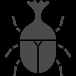 カブトムシのフリーアイコン1 アイコン素材ダウンロードサイト Icooon Mono 商用利用可能なアイコン素材が無料 フリー ダウンロードできるサイト