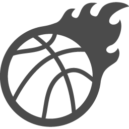 炎のバスケットボール アイコン素材ダウンロードサイト Icooon Mono 商用利用可能なアイコン素材が無料 フリー ダウンロードできるサイト