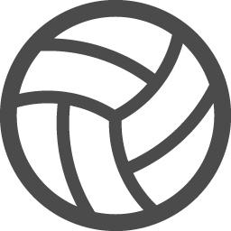 バレーボールアイコン1 アイコン素材ダウンロードサイト Icooon Mono 商用利用可能なアイコン 素材が無料 フリー ダウンロードできるサイト