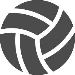 バレーボールの無料アイコン2 アイコン素材ダウンロードサイト Icooon Mono 商用利用可能なアイコン素材が無料 フリー ダウンロードできるサイト