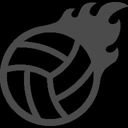 バレーボールアイコン3 アイコン素材ダウンロードサイト Icooon Mono 商用利用可能なアイコン 素材が無料 フリー ダウンロードできるサイト