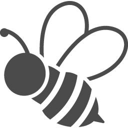 ミツバチのフリー素材1 アイコン素材ダウンロードサイト Icooon Mono 商用利用可能なアイコン素材が無料 フリー ダウンロードできるサイト