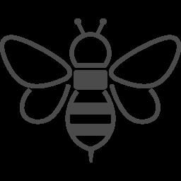 蜂のイラスト素材2 アイコン素材ダウンロードサイト Icooon Mono 商用利用可能なアイコン素材が無料 フリー ダウンロードできるサイト