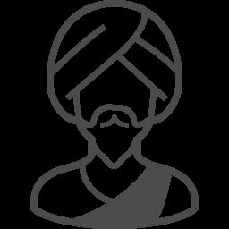 インド人のイラスト1 アイコン素材ダウンロードサイト Icooon Mono 商用利用可能なアイコン素材が無料 フリー ダウンロードできるサイト