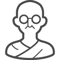 ガンジーアイコン1 アイコン素材ダウンロードサイト Icooon Mono 商用利用可能なアイコン素材が無料 フリー ダウンロードできるサイト