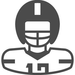 アメフト選手のイラスト1 アイコン素材ダウンロードサイト Icooon Mono 商用利用可能なアイコン素材が無料 フリー ダウンロードできるサイト