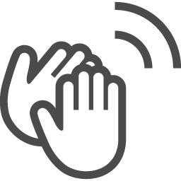 拍手アイコン1 アイコン素材ダウンロードサイト Icooon Mono 商用利用可能なアイコン素材が無料 フリー ダウンロードできるサイト