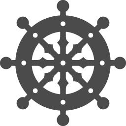 法輪のイラスト1 アイコン素材ダウンロードサイト Icooon Mono 商用利用可能なアイコン素材が無料 フリー ダウンロードできるサイト