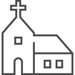 教会のイラスト4 アイコン素材ダウンロードサイト Icooon Mono 商用利用可能なアイコン素材が無料 フリー ダウンロードできるサイト