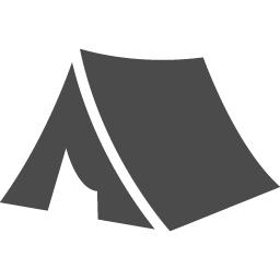 テントアイコン6 アイコン素材ダウンロードサイト Icooon Mono 商用利用可能なアイコン素材が無料 フリー ダウンロードできるサイト