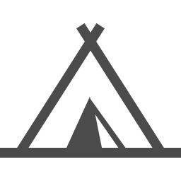 テントのフリーアイコン9 アイコン素材ダウンロードサイト Icooon Mono 商用利用可能なアイコン素材が無料 フリー ダウンロードできるサイト