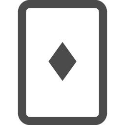 トランプのダイヤ2 アイコン素材ダウンロードサイト Icooon Mono 商用利用可能なアイコン素材が無料 フリー ダウンロードできるサイト