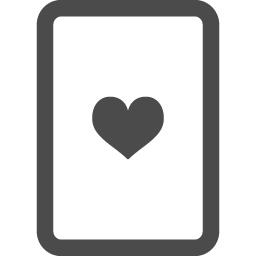 トランプのハート2 アイコン素材ダウンロードサイト Icooon Mono 商用利用可能なアイコン素材が無料 フリー ダウンロードできるサイト