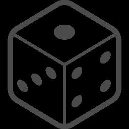 サイコロアイコン1 アイコン素材ダウンロードサイト Icooon Mono 商用利用可能なアイコン素材が無料 フリー ダウンロードできるサイト