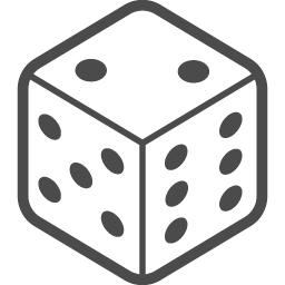 サイコロのフリーアイコン2 アイコン素材ダウンロードサイト Icooon Mono 商用利用可能なアイコン素材が無料 フリー ダウンロードできるサイト