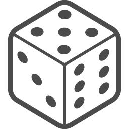 サイコロアイコン5 アイコン素材ダウンロードサイト Icooon Mono 商用利用可能なアイコン素材が無料 フリー ダウンロードできるサイト