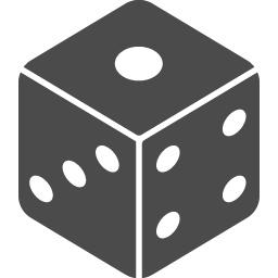 サイコロのフリー素材1 アイコン素材ダウンロードサイト Icooon Mono 商用利用可能なアイコン素材が無料 フリー ダウンロードできるサイト