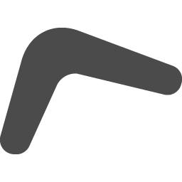 ブーメランのフリーアイコン1 アイコン素材ダウンロードサイト Icooon Mono 商用利用可能なアイコン素材が無料 フリー ダウンロードできるサイト