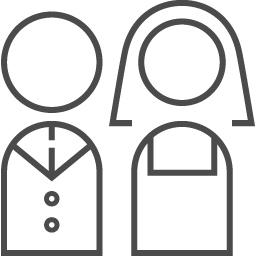 新郎新婦のフリーイラスト2 アイコン素材ダウンロードサイト Icooon Mono 商用利用可能なアイコン素材が無料 フリー ダウンロードできるサイト