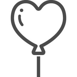風船アイコン8 アイコン素材ダウンロードサイト Icooon Mono 商用利用可能なアイコン素材が無料 フリー ダウンロードできるサイト