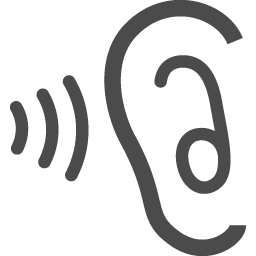 耳アイコン3 アイコン素材ダウンロードサイト Icooon Mono 商用利用可能なアイコン素材が無料 フリー ダウンロードできるサイト