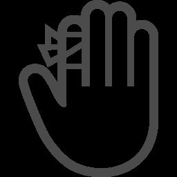怪我アイコン2 アイコン素材ダウンロードサイト Icooon Mono 商用利用可能なアイコン素材が無料 フリー ダウンロードできるサイト